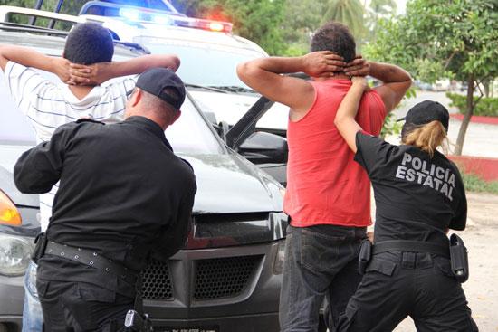 SSP detiene a cinco presuntos ladrones