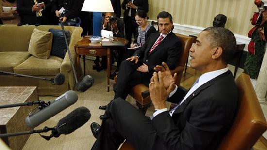 Peña Nieto plantea a Obama creación de empleos en la frontera