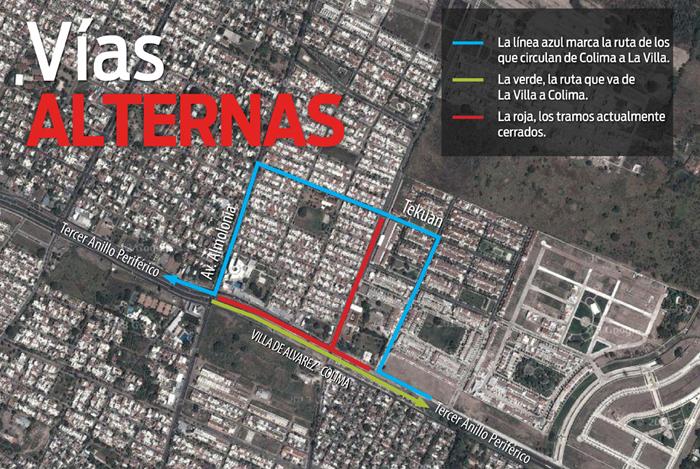 'La Villa' afina operativo vial en tramo cerrado de Tercer Anillo Periférico