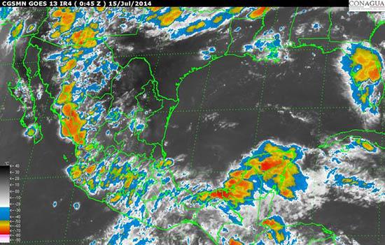SMN pronostica lluvias para Colima este martes