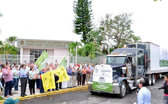 Universidad recaba más de 12 toneladas para damnificados por Odile en Colima y BCS