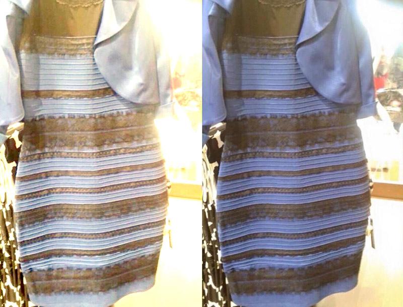 Vestido blanco y dorado polemico