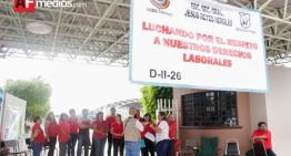 Trabajadores de secundaria Reyes Heroles se manifiestan por irregularidades administrativas; sindicato trabaja para resolverlas