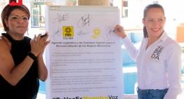 Martha Zepeda suscribe agenda por los derechos de las mujeres
