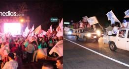 Ignacio Peralta celebra en el Rey Colimán; Jorge Luis lo hace con caravana