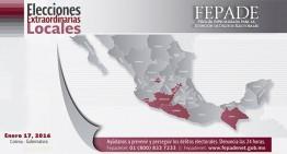 FEPADE pone a disposición línea 01 800 para denuncias en elección de Colima y Tabasco