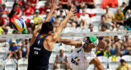 México derrota a Italia en voleibol de playa, en el de sala cae ante Brasil