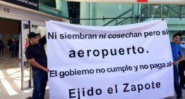 Ejidatarios continúan bloqueo en Aeropuerto Internacional de Guadalajara