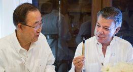 Premio Nobel a Santos es un mensaje de apoyo al proceso de paz en Colombia: Ban