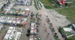 Lluvia dejó ocho colonias inundadas en Tlajomulco Jalisco