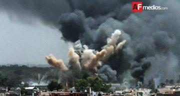 Incendio en mercado de cohetes en Edo de México