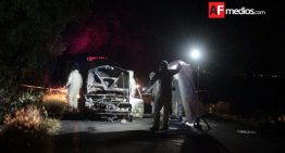 Encuentran dos cadáveres dentro de un auto calcinado, en Tarímbaro