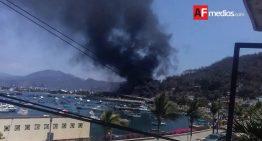 Se incendia madera y plástico en puente San Pedrito en Manzanillo