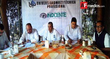 Universidad Multitécnica Profesional iniciará el proyecto Inocente Colima