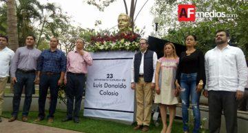 Conmemoran 23 aniversario luctuoso de Luis Donaldo Colosio