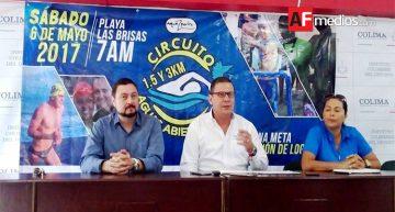 Bolsa de premiación de 20 mil pesos en Circuito Aguas Abiertas Manzanillo 2017