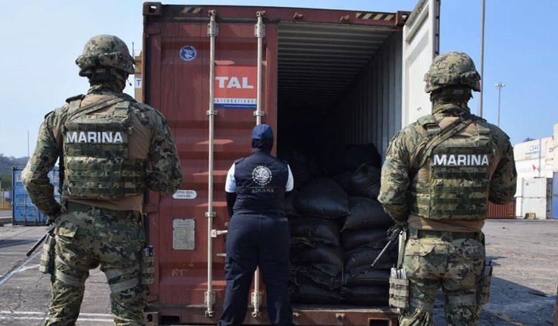 Sexta Región Naval asegura estupefacientes dentro de un contenedor