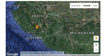 Se registra sismo de magnitud 4.6 en Colima