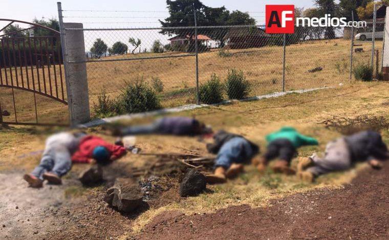 Encuentran a siete cadáveres ejecutados a balazos en Michoacán