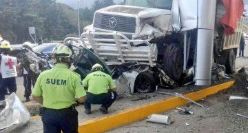 Choque en caseta Lerma-La Marquesa deja 4 muertos