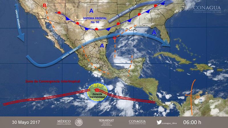 Potencial de lluvias prevalecerá en al menos 28 entidades del país