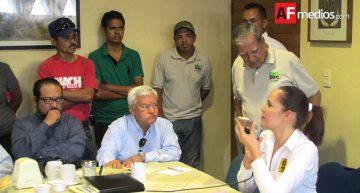 Trabajadores del Ecoparc increpan a Martha Zepeda durante conferencia