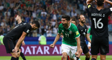 México sufre para derrotar 2-1 a Nueva Zelanda en Confederaciones