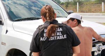 SSP detiene a 61 personas en 7 días; recuperan 6 vehículos