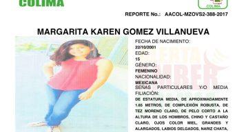 Se desactiva Alerta Amber por menor desaparecida en Manzanilla