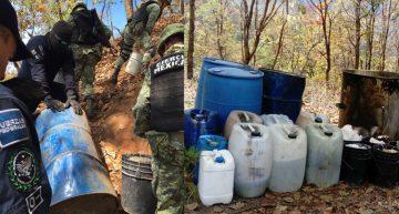 PF localiza campamento para elaboración de crystal en Michoacán