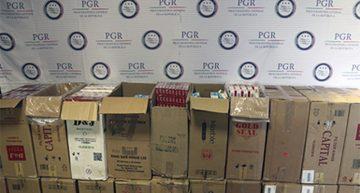 Aseguran más de 252 mil cigarros de contrabando en Guadalajara