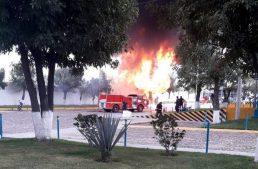 Se incendia bodega de tenis en Unión de San Antonio, Jalisco