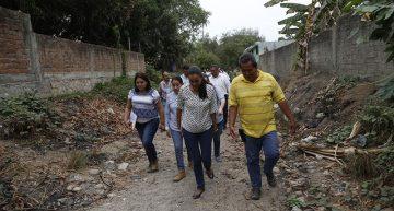 Supervisa Gabriela Benavides trabajos de limpieza en puntos de riesgo