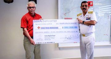 VI Región Naval entrega donativo a Cruz Roja