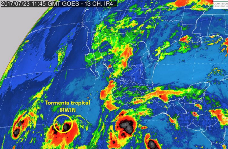 Evoluciona depresión tropical a tormenta en Puerto Angel