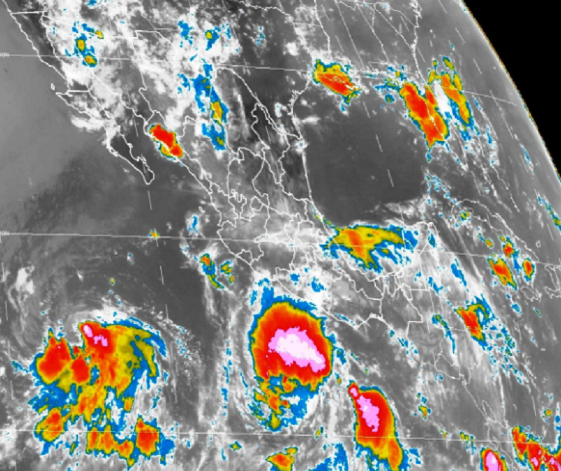 Registran dos tormentas tropicales en pacífico mexicano