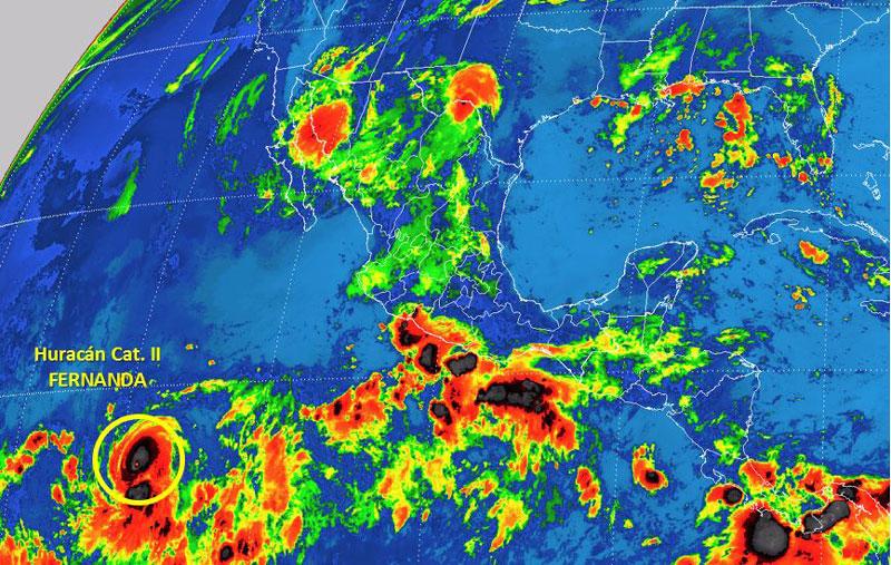 """Fernanda ya es un poderoso huracán categoría 3 en el Pacífico"""""""