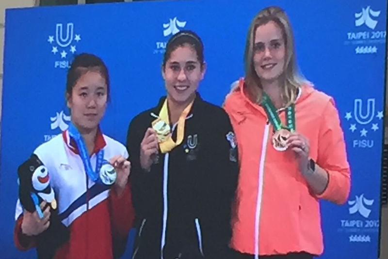 La mexicana Dolores Hernández gana oro en clavados de Universiada en Taipei