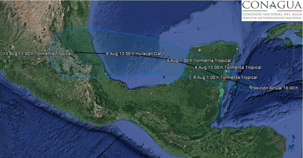 'Franklin' se fortalece antes de tocar tierra en Veracruz