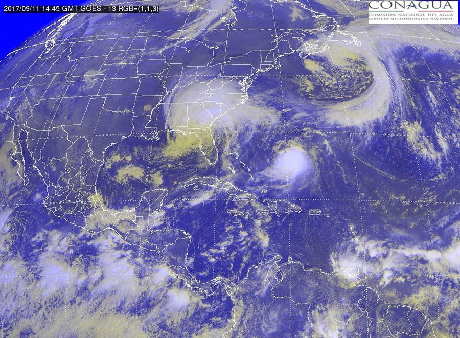 Zonas de inestabilidad generarán lluvias al occidente y sur del país