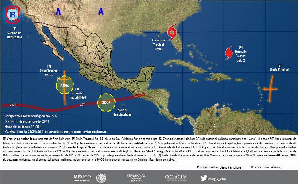 Se mantiene 50% de probabilidad de ciclón en el Pacífico