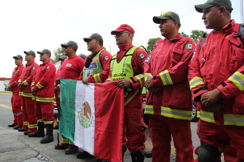 Salen rumbo a la CDMX unidades de búsqueda y rescate de Jalisco