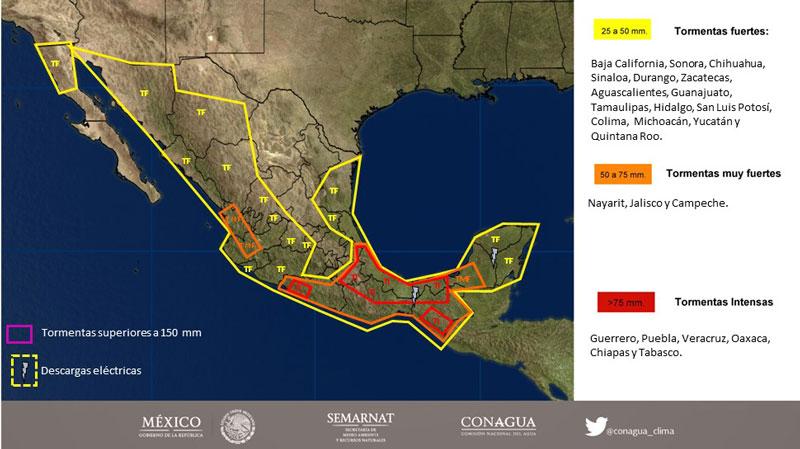 SMN pronostica tormentas en Colima