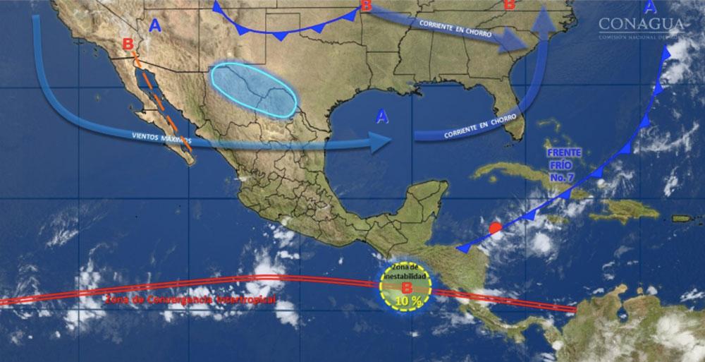 Prevalecerán tormentas en el sur y bajas temperaturas en zonas altas