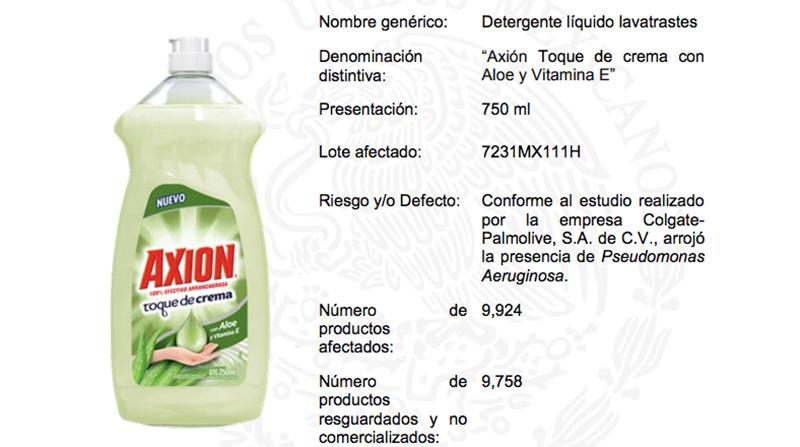 Profeco retira del mercado jabón 'Axión' por contener peligrosas bacterias
