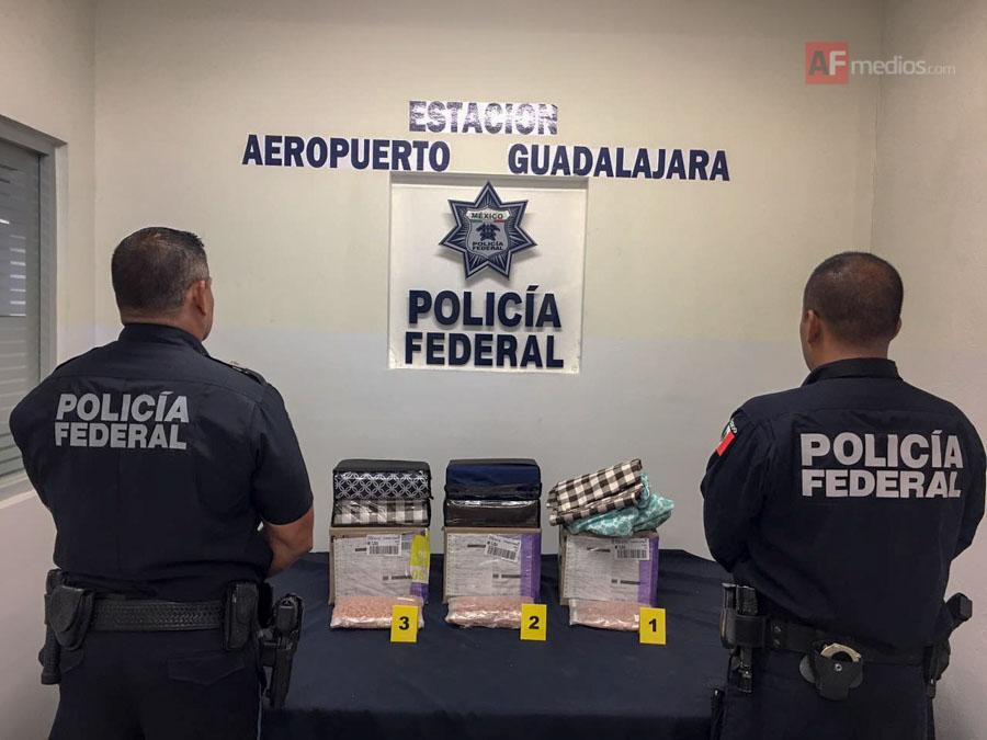 Aseguran droga en el Aeropuerto de Guadalajara
