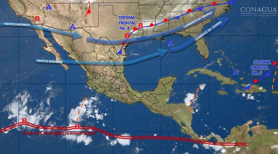 Posibles lluvias al occidente y centro del país