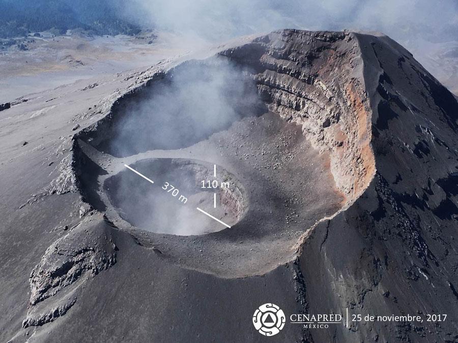 El volcán Popocatépetl intensifica actividad