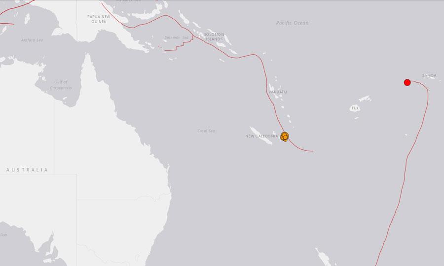 Reportan fuerte sismo en la región de Nueva Caledonia