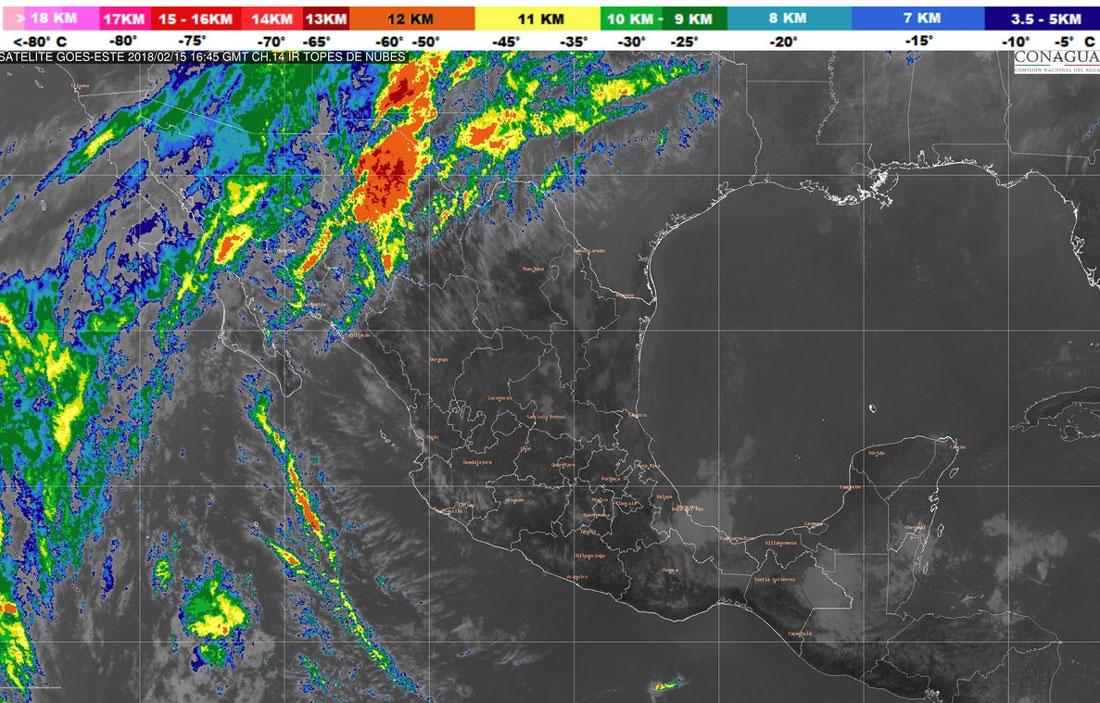 Prevén lluvias en 14 estados del país